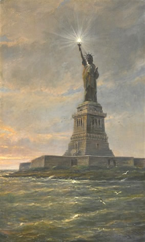 statue of liberty by cornelis christiaan dommelshuizen